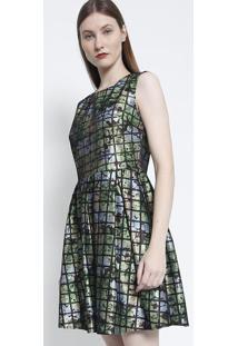 Vestido Com Pregas- Preto Verdesusan Zheng