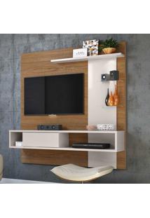 Painel Para Tv Até 55 Polegadas Atlântico Natura Real/Off White - Colibri Móveis