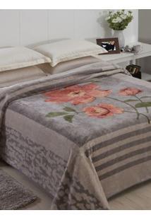 Cobertor King Jolitex Raschel Cinza