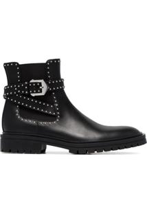 Givenchy Ankle Boot 'Elegant' De Couro Com Tachas - Preto