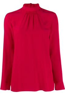 Red Valentino Gathered Detail Blouse - Vermelho