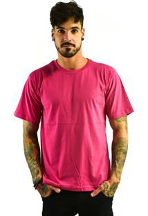 Camiseta Rich Young Básica Gola Careca Lisa Rosa