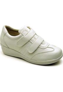 Sapatenis Conforto Top Franca Shoes Feminino - Feminino-Branco