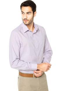 Camisa Richards Bolso Xadrez Roxo/Cinza