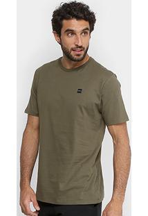 Camiseta Oakley Manga Curta Masculina - Masculino-Verde Militar