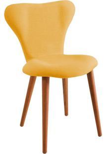 Cadeira Jacobsen Linho Amarelo