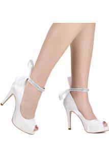 Sapato Peep Toe Zariff Salto Fino