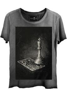 Camiseta Estonada Skull Lab King Corte A Fio