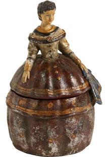 Escultura Decorativa De Resina Lady À Francesa V