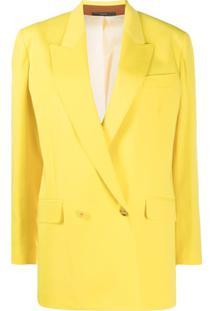 Paul Smith Blazer Com Abotoamento Duplo - Amarelo