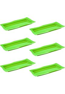 Saladeira Vemplast Moove Rasa Verde
