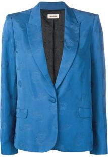 Zadig&Voltaire Blazer 'Victor' Com Paisley - Azul