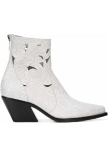 Givenchy Ankle Boot De Couro - Branco