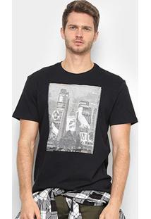 Camiseta Reserva Realidade Aumentada Masculina - Masculino-Preto