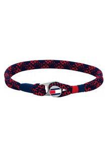 Pulseira Tommy Hilfiger Nylon Azul E Vermelho - 2790247S