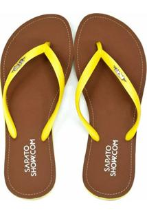 Chinelo Broche Metálico Sapato Show 01801172 - Feminino-Amarelo
