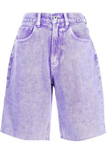 Ground Zero Bermuda Jeans - Roxo
