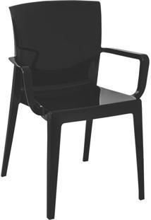 Cadeira Victoria Fechada Preta