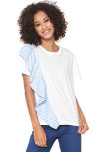 Camiseta Sommer Babado Branca