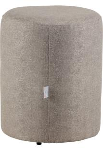 Puff Round Tecido Jacquard Assis 8158 Cinza Stay Puff