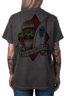 Camiseta Artseries Surf & Skate Life Style Grafite