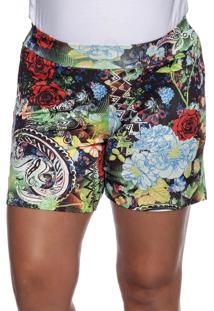 Shorts Tem Gente Moda Gestante Multicolorido