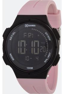 Relógio Feminino Xgames Xfppd070-Pxrx Digital 10Atm