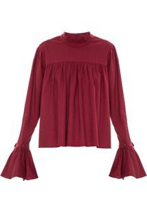 Framed Blusa Babados Linen - Vermelho