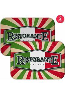 Jogo Americano Love Decor Restaurante Italiano Verde