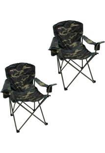 Kit 2 Cadeiras Dobráveis Com 2 Porta Copos Nautika Pandera - Unissex