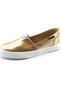 Tênis Slip On Quality Shoes Feminino 002 Verniz Metalizado 40