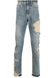 Val Kristopher Calça Jeans Com Efeito Destroyed - Azul