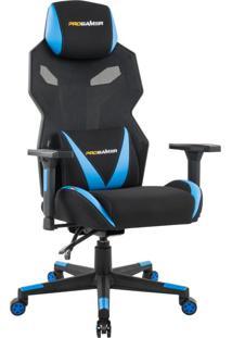 Cadeira Gamer Executiva Pro-X Gaming Reclinável Giratória Preto/Azul - Gran Belo