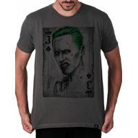 Camiseta Coringa Artseries Masculina - Masculino-Grafite 4cd883b593d89