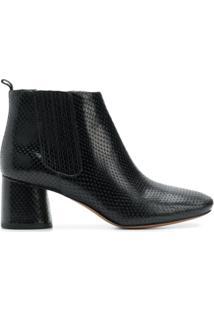 Marc Jacobs Ankle Boot 'Rocket' De Couro - Preto