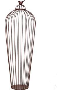 Vaso Decorativo Passarinho I Marrom