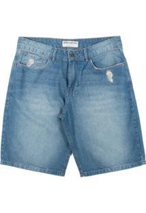 Bermuda Jeans Billabong Walk Deep Sea Masculina - Masculino-Azul