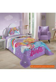 Edredom Infantil Barbie Reinos Mágicos (150X200) Algodão Lilás
