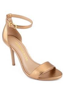 Sandalia Salto Alto Lisa Dourado