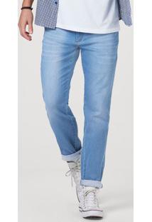 Calça Jeans Masculina Skinny Com Lavação Estonada