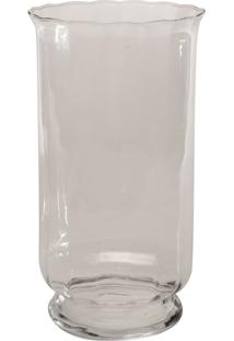 Vaso Bianco & Nero 34X20Cm Transparente - Kanui