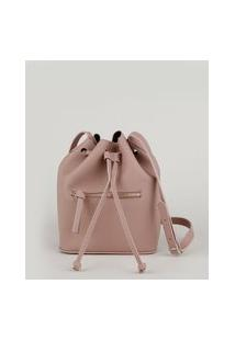 Bolsa Bucket Feminina Com Alça Transversal Rosê