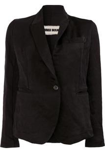 Uma Wang Blazer Com Abotoamento Simples - Preto