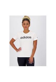Camiseta Adidas Logo Linear Feminina Branca