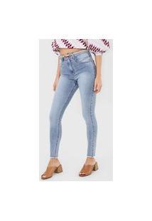 Calça Jeans Maria Filó Skinny Estonada Azul
