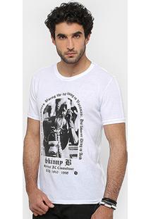 Camiseta Sergio K Gola Careca Skinny B Masculina - Masculino