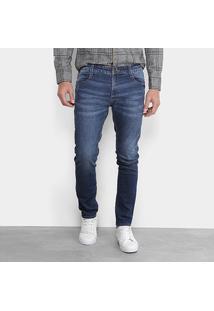 Calça Jeans Skinny Gangster Elastano Used Logo Masculino - Masculino