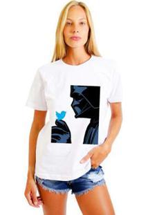 Camiseta Joss Estampada Darth Feminina - Feminino-Branco