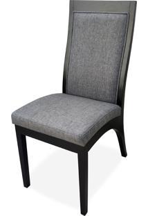 Cadeira Madri Estofada Madeira Maciça Design Exclusivo