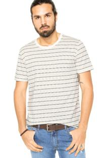 Camiseta Sommer Listras Bege